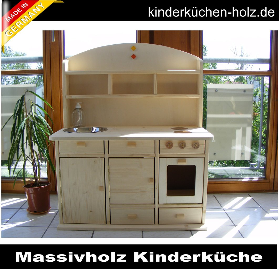 kinderk che spielk che lara aus massivholz handgemacht. Black Bedroom Furniture Sets. Home Design Ideas
