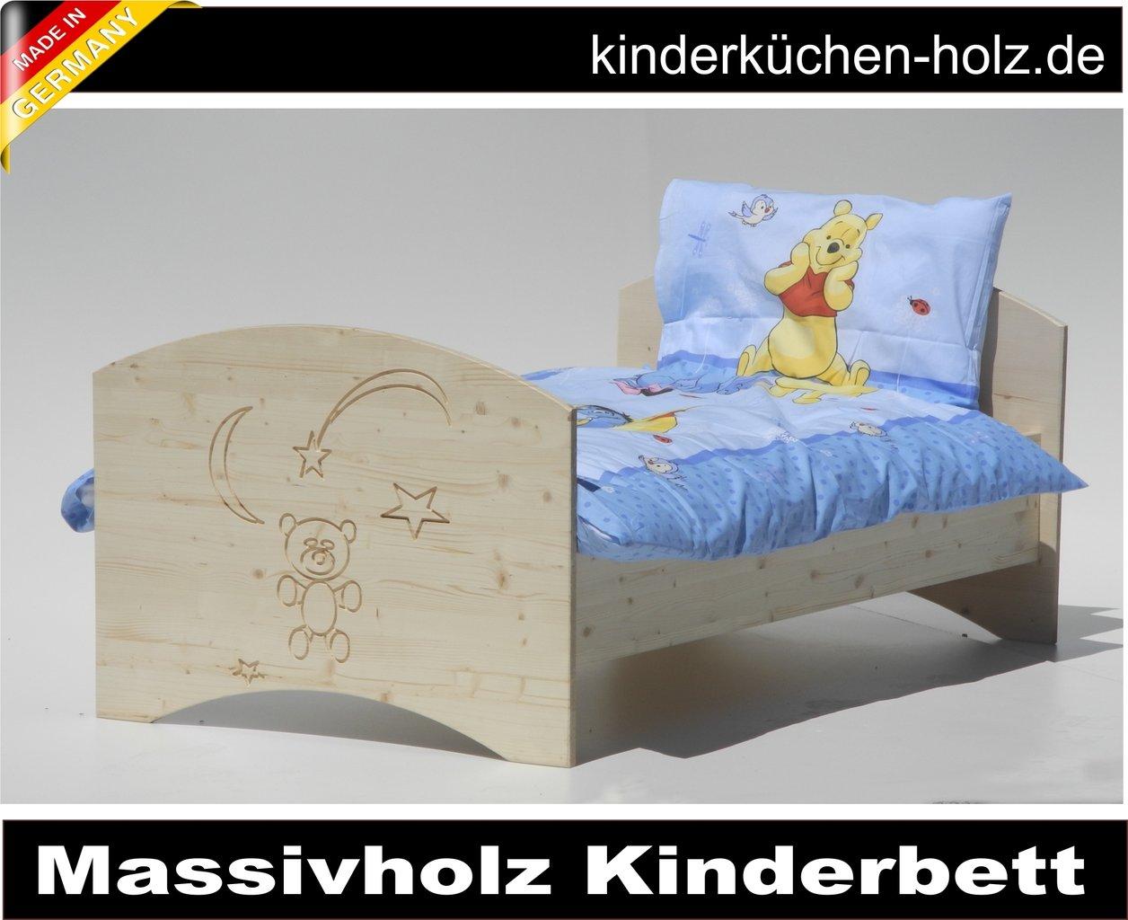 kinderbett aus massivholz natur b r im mond 140 x 70 cm. Black Bedroom Furniture Sets. Home Design Ideas