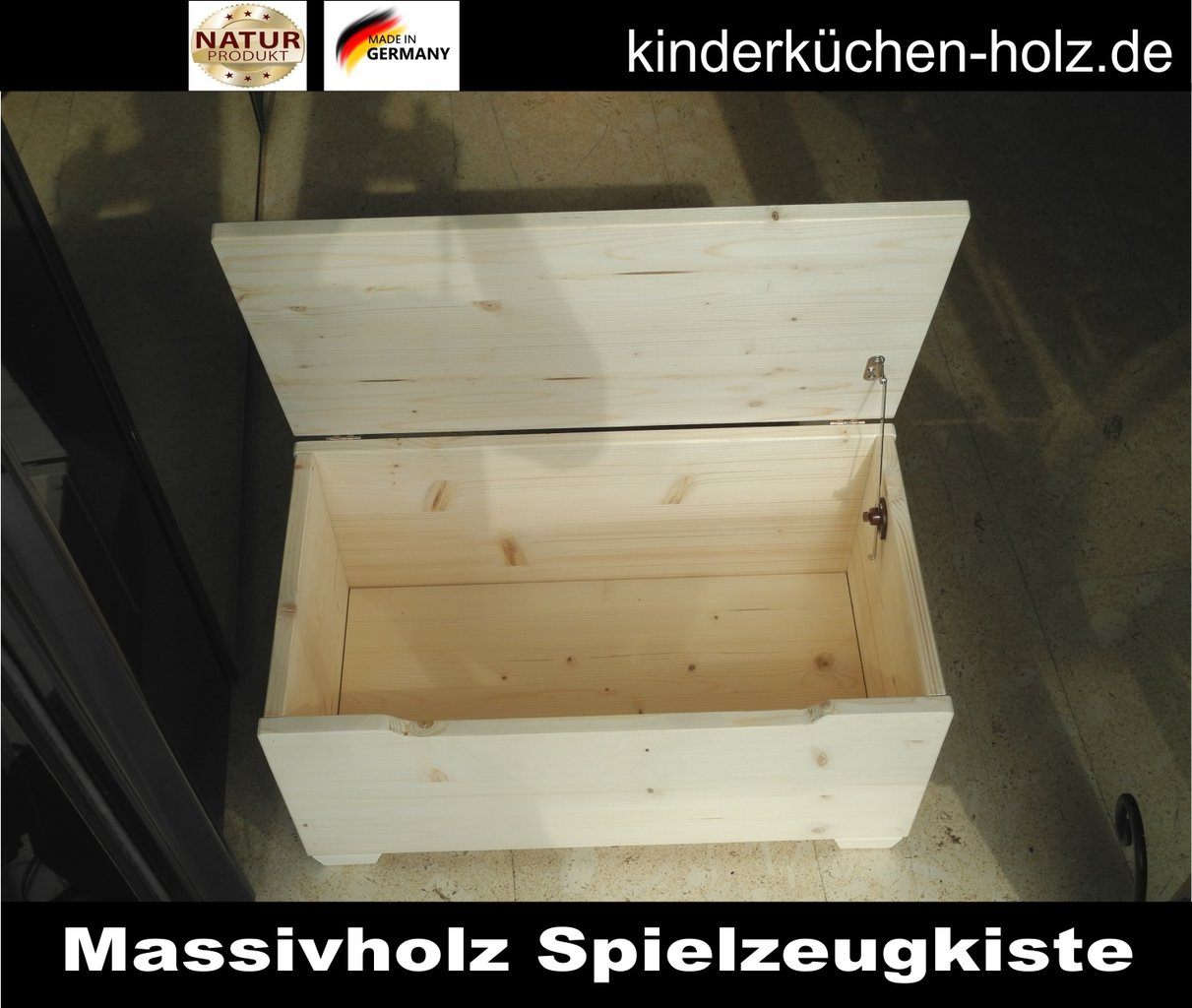 spielzeugtruhe spielzeugtruhe aus massiv holz gr e m. Black Bedroom Furniture Sets. Home Design Ideas