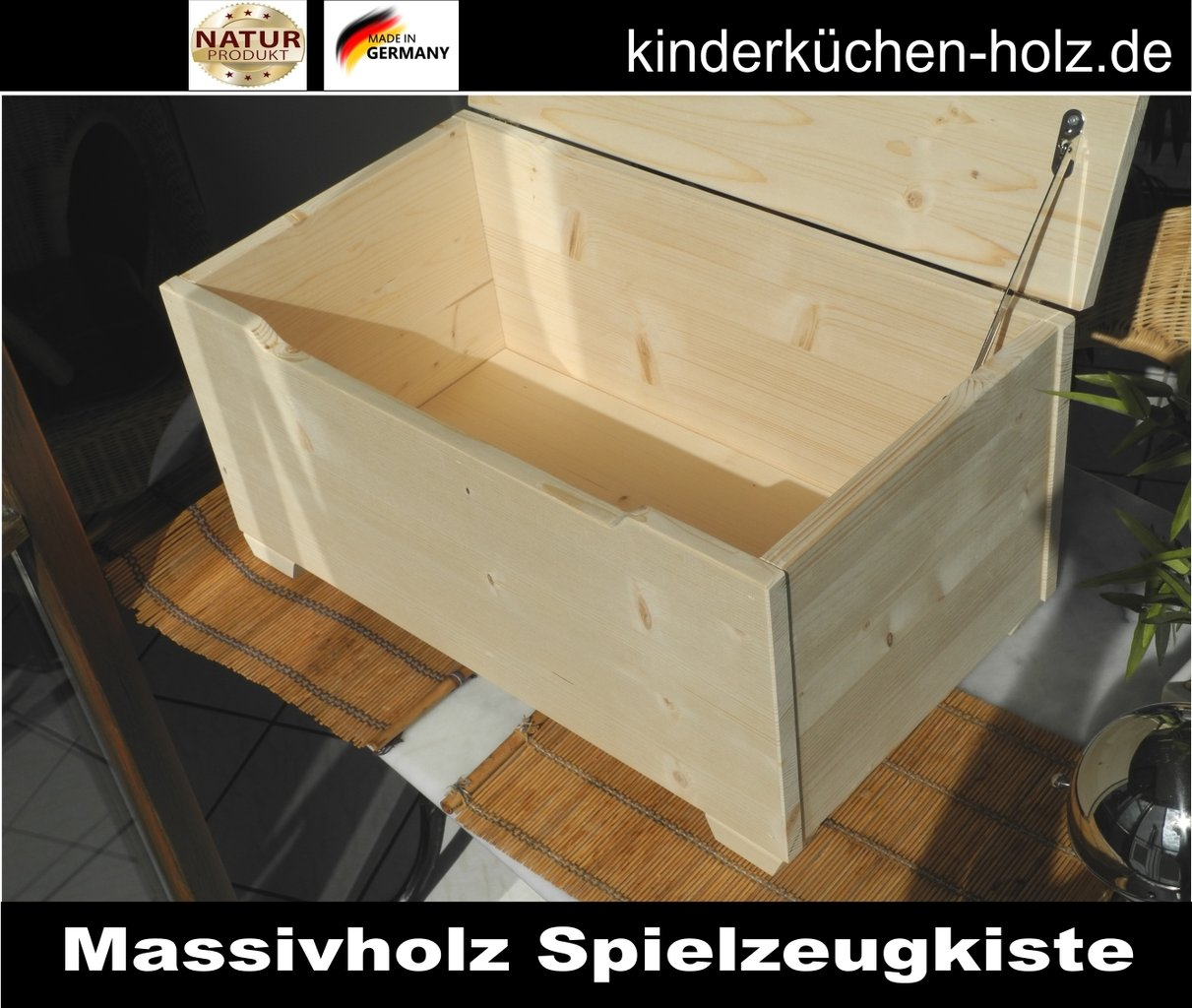 spielzeugkiste spielzeugtruhe holz gr e l. Black Bedroom Furniture Sets. Home Design Ideas