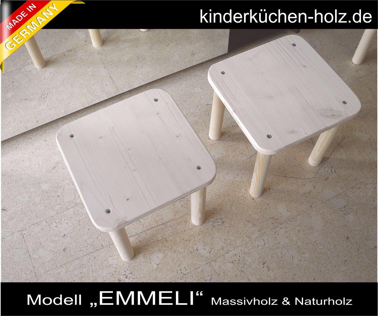 Kindermobel Set 1 Tisch Und Zwei Stuhle Aus Echtholz