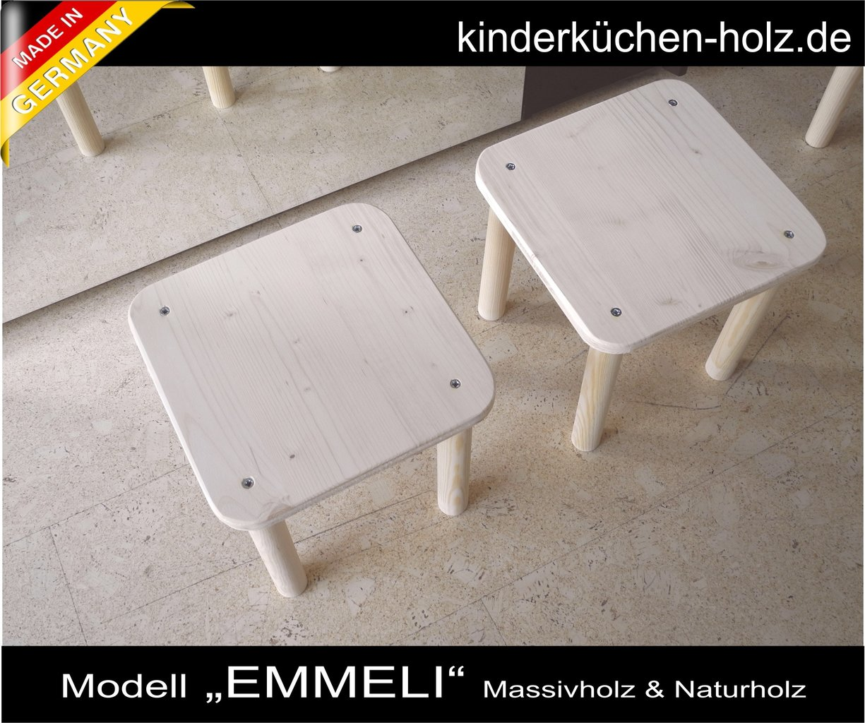 Kindermöbel Set 1 Tisch Und Zwei Stühle Aus Echtholz